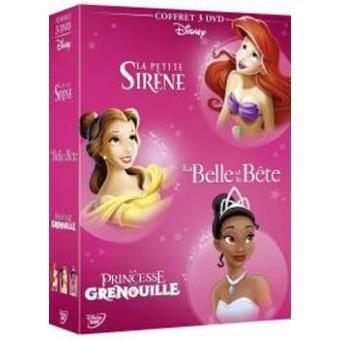 Coffret 3 DVD princesses Disney - La Petite Sirène, La Belle et la Bête, La princesse et la grenouille