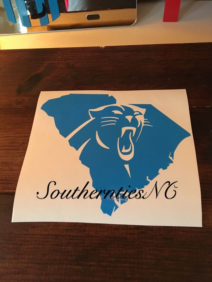 South Carolina State Panthers Decal. Car, Laptop, Tablet, Notebook. by SouthernTiesNC on Easy #southcarolinapanther #carolinapanthers