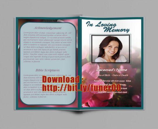 Brochure Begrafenis Programma Template voor Word