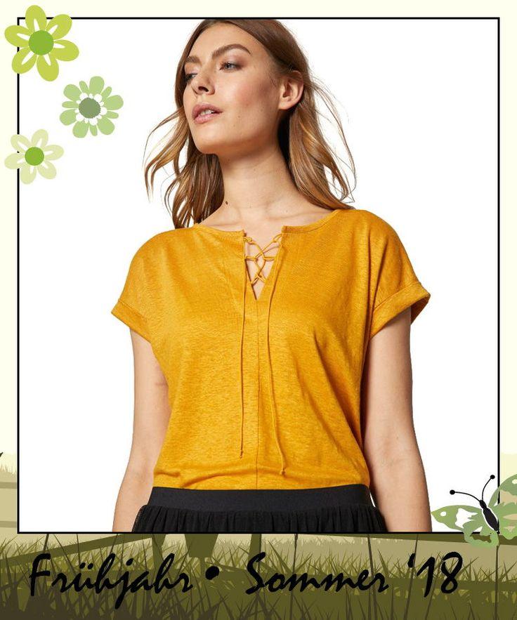 shirt mit schnürung aus bio-leinen von lanius bei kult