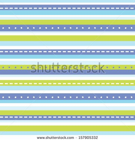 Fun seamless background with blue and green stripes. Great for Baby Shower, Baptism, Christening, Birthday, Easter, Scrapbook, Gift Wrap, surface textures. See my folio for other colors. - stock vector