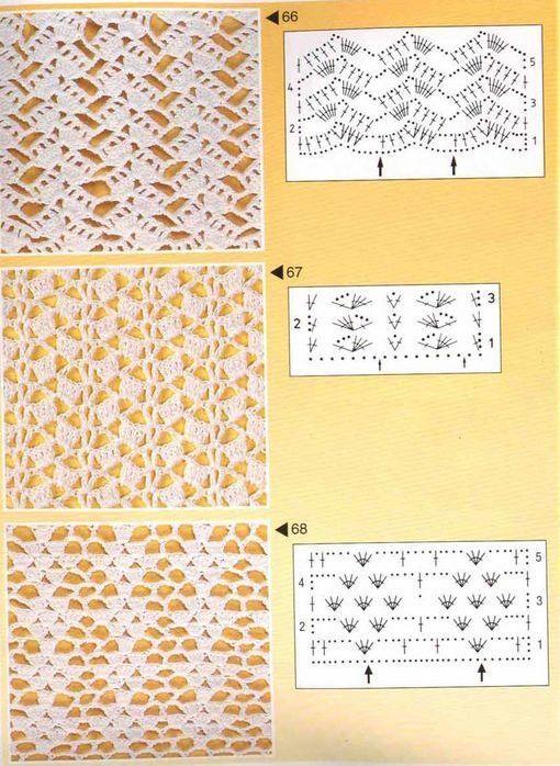 SOLO PUNTOS: Puntos calados crochet                                                                                                                                                                                 Más
