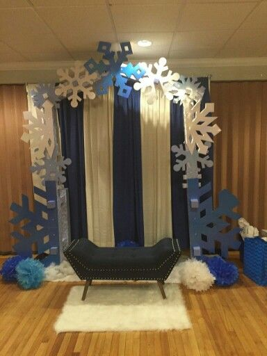 Winter Wonderland Backdrop And Chair