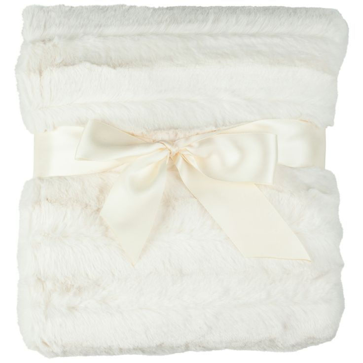 Feltman Brothers simple and elegant ivory faux fur blanket, with ribbing on one side, and Swiss dot design on the reverse. Cozy and warm, perfect for winter! Makes a great baby gift! http://www.feltmanbrothers.com/blankets-2/
