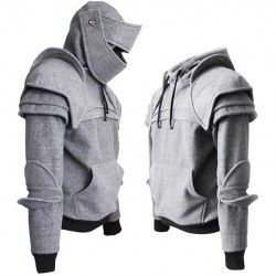 pull-armure-capuche-gris