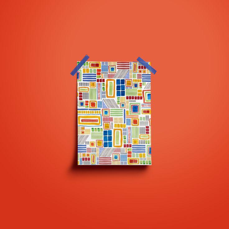 Print designed by Inedit.design #print #design #textile #pattern - Amadeo Souza Cardoso