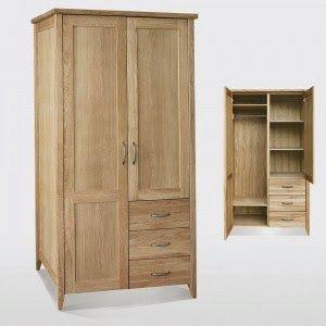 Jati Furniture Minimalis: ALMARI PAKAIAN JATI 2 PINTU MINIMALIS