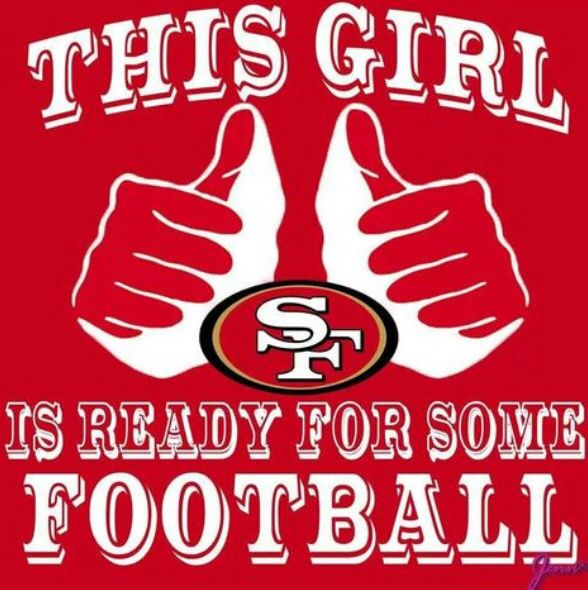 This girl is ready for some football.  Love me some San Francisco 49ers!