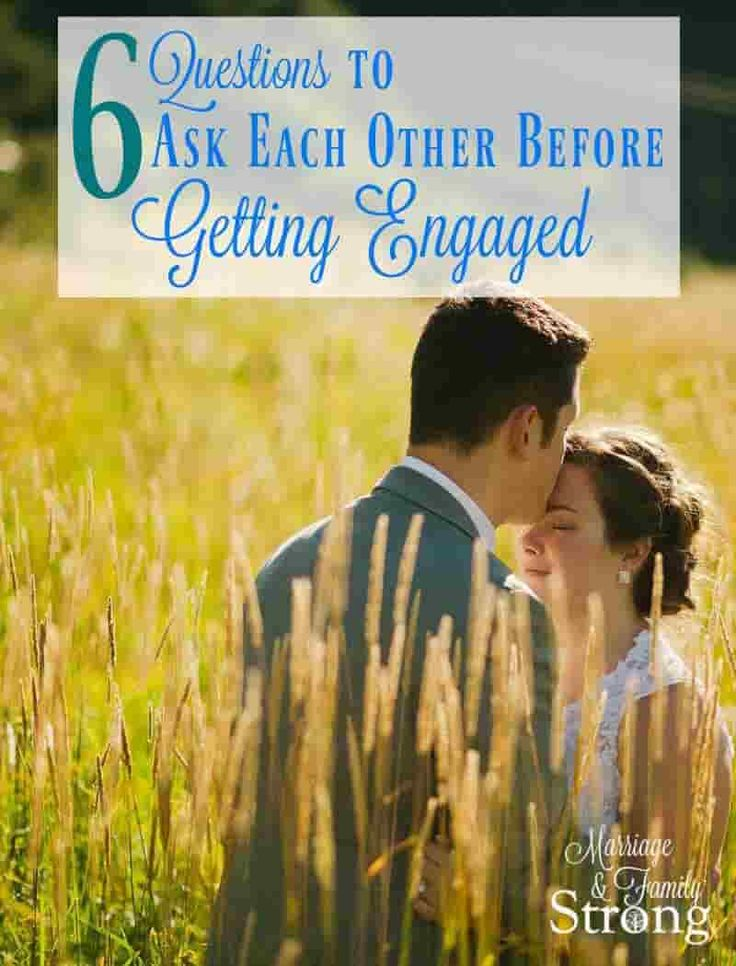 Discussing these couple questions before you get engaged
