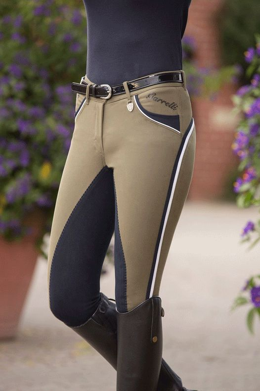 HKM Lauria Garrelli Wave Polo Classic Full Seat Breeches — EQUUS, they are so BEAUTIFUL! Love the contrast ❤️❤️