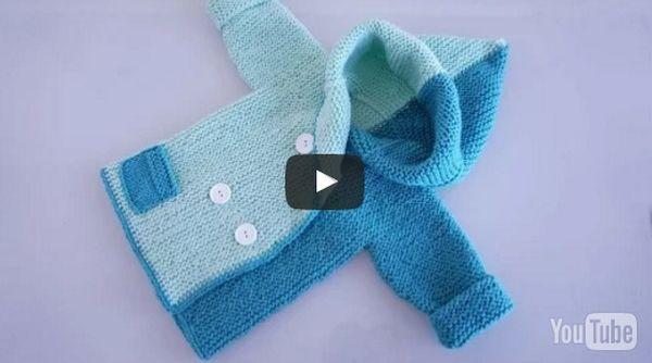 Вязание детского жакета с капюшоном спицами - видео. Интересная модель детского теплого жакета, которая вяжется поперек, начиная с рукава.