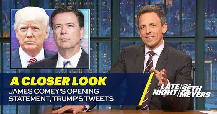 Seth Meyers tears apart Donald Trump over 'terrible Tinder date' with James Comey
