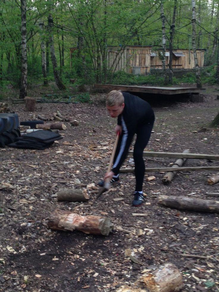Survival, hier Tim op OCP te Oldenzaal. Lichamelijk fit blijven!