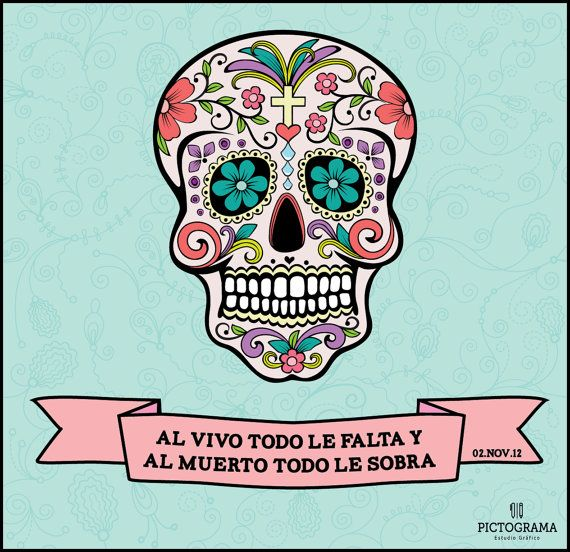 Dia de Muertos by Pictograma on Etsy, $100.00
