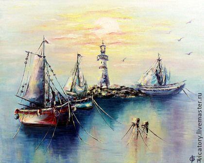 Картина 'Краски моря на восходе солнца'   Sunrise colors on the sea by Victoria Sokolova oil, canvas, 40*50, 2014