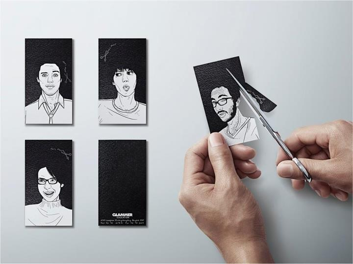 cut your own hairstyle. namecard