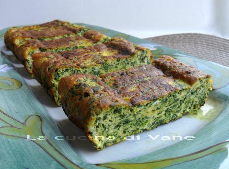 Frittata+al+forno+con+ricotta+spinaci+e+zafferano+