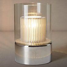 Buy John Lewis Salvatore Glass Alu Shade Touch Table Lamp Online at johnlewis.com