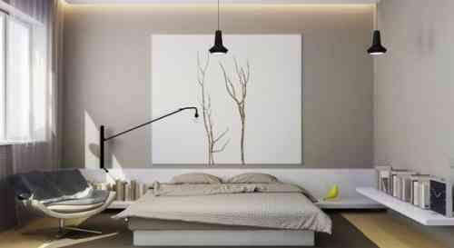 chambre à coucher de design minimaliste