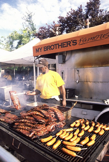 """Rib Cook-off. Reno, Nevada - This is SO yummy!  We usually just go in and buy what we want from several vendors (some ribs, fresh lemonade, yummy sides) and then head to a local park to eat. Aspie son doesn't like crowds, but can handle long enough to get """"the goods"""".  Works out great for us! I think it is over Labor Day Weekend.  slp"""