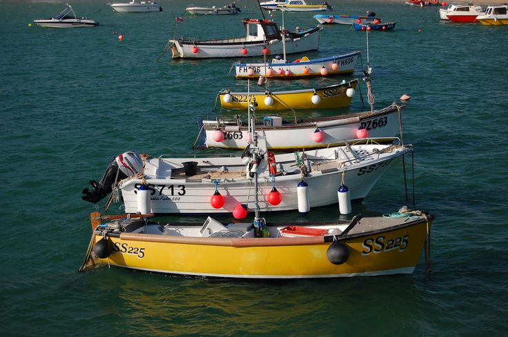 Yellow boats in St Ives, Cornwall