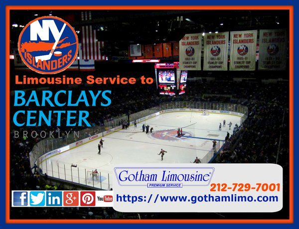 Islanders vs Lighting Limo to Barclays Center from Gotham Limousine