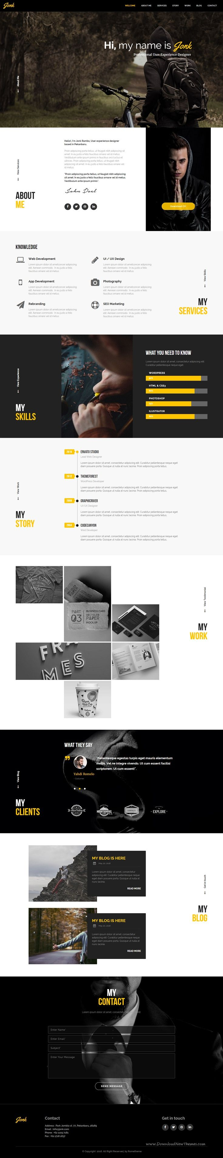 JONK is multipurpose muse template options for web developer or designer who needs a web template to promote and introduce their business company or clients. JONK is designed for Freelancer, agency, or personal portfolio. #musetemplate