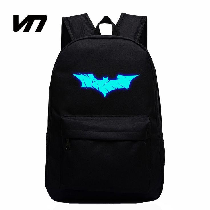 VN Brand Batman Backpack Super Hero Spiderman Bags For Boys Girls School Backpacks Kids Best Gift School Bag Children Backpack