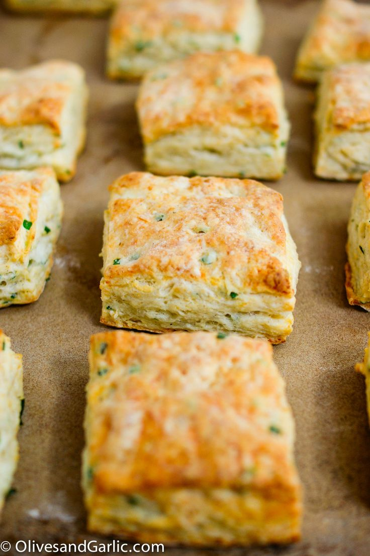Savory Goat Cheese & Chive Biscuits | Savoy Truffle | Pinterest