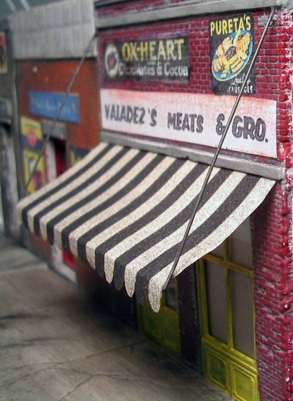 Window Awning O On30 Model Detail Railroad Doll House Fr205 Frenchmanriver Window Awnings Awning Doll House