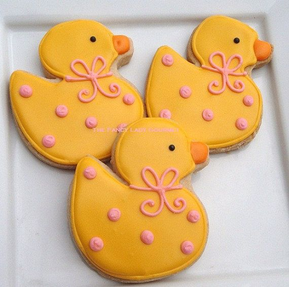 Custom Rubber Duck Cookies 1 dozen by TheFancyLadyGourmet on Etsy, $30.00