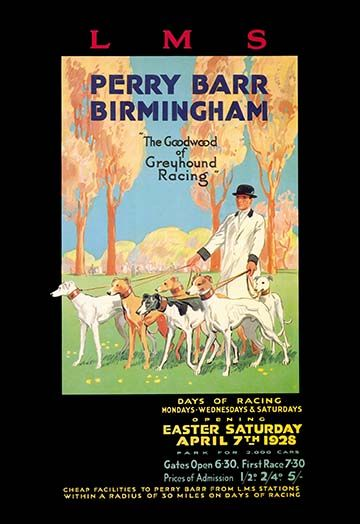 Perry Barr, Birmingham - Greyhound Racing -#Art Print #Dogs #AnimalKingdom #posters https://postercrazed.com/product/perry-barr-birmingham-greyhound-racing-art-print/