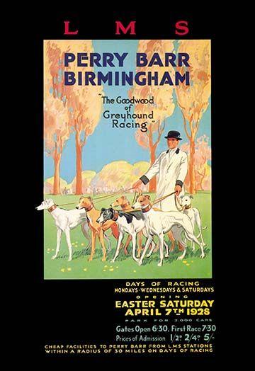 Perry Barr, Birmingham - Greyhound Racing -#Art Print #Dogs #AnimalKingdom #posters https://postercrazed.com/product/perry-barr-birmingham-greyhound-racing-art-print/