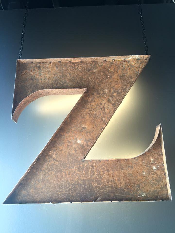 Cafe Zoceria's logo. Old metal.
