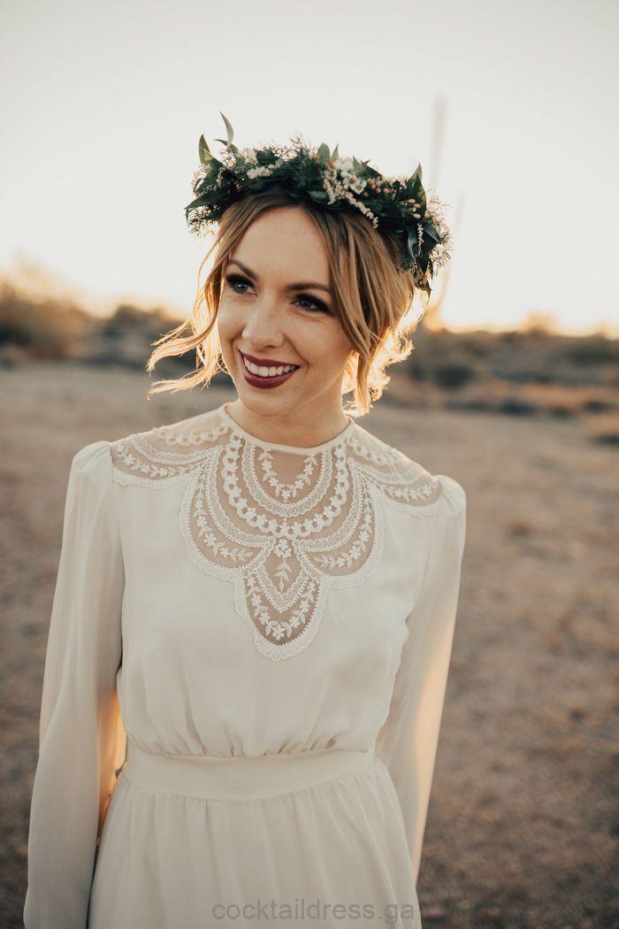 Vintage Hochzeitskleid Bohmische Blumenkrone Cocktail