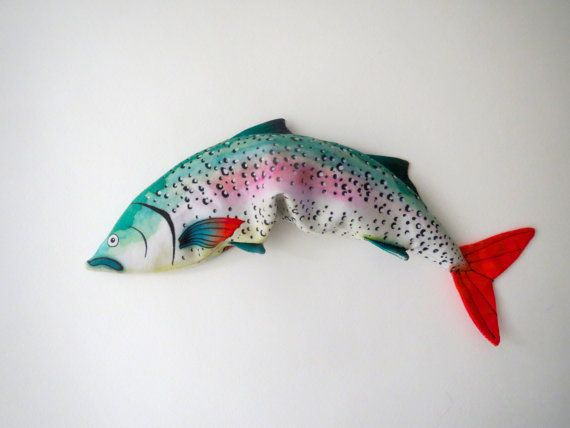 Lavender Fish  Eye Pillow  Organic Flax and by AliaGraceDolls