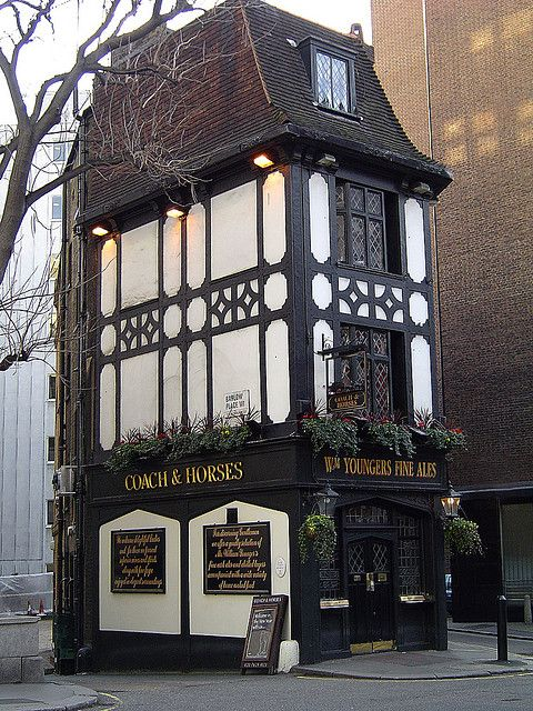 The Coach and Horses Pub, Mayfair, London is the oldest pub in Mayfair established in 1744 and used to be a coaching inn.