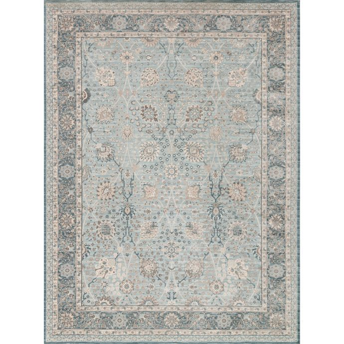 Magnolia Home By Joanna Gaines Ella Rose Rug In Light Blue Dark Blue Magnolia Homes Magnolia Home Collection Stunning Rugs