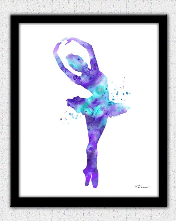 Ballerina print ballerina silhouette balleria by FluidDiamondArt