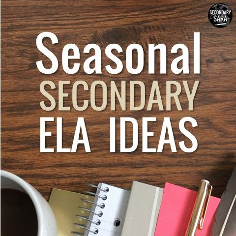 Pinterest board of ideas for holidays and seasonal lessons for middle and high school English Language Arts classes