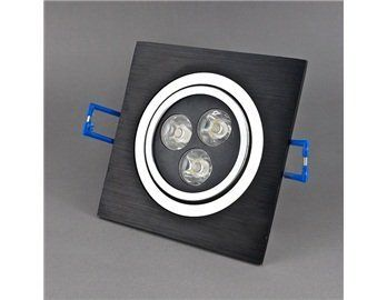 3*1W 3000K 300LM Square Warm White Light LED Ceiling Spotlight (Black) by QLPD. $43.56. Super bright warm white LED ceiling light with low power consumption.