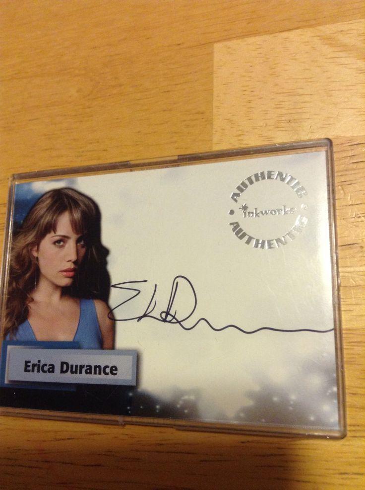 Erica Durance Autographed Card Smallville