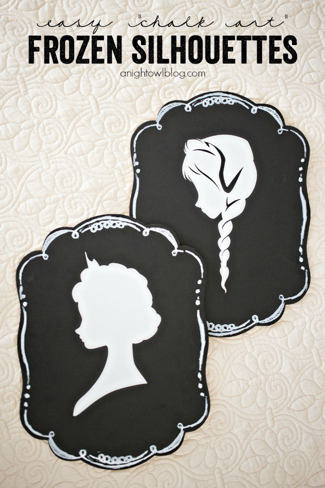 Create EASY Frozen Silhouettes with the Cricut Explore! from MichaelsMakers A Night Owl Blog