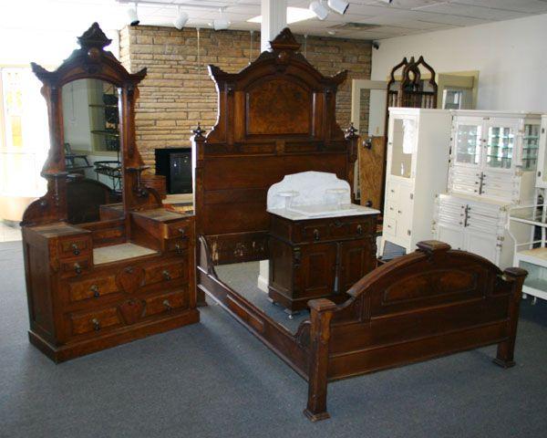 style bedroom set marble tops broyhill eastlake 2 top