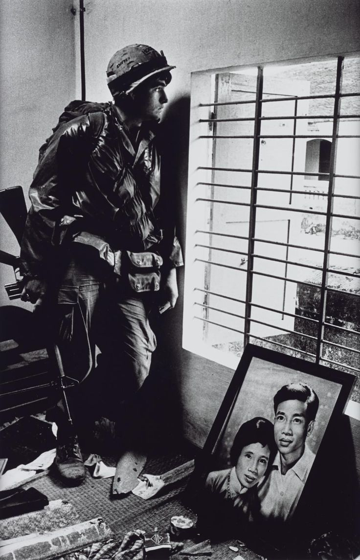 Don McCullin, 'The Battle for the City of Hue, South Vietnam, US Marine Inside Civilian House' 1968, printed 2013