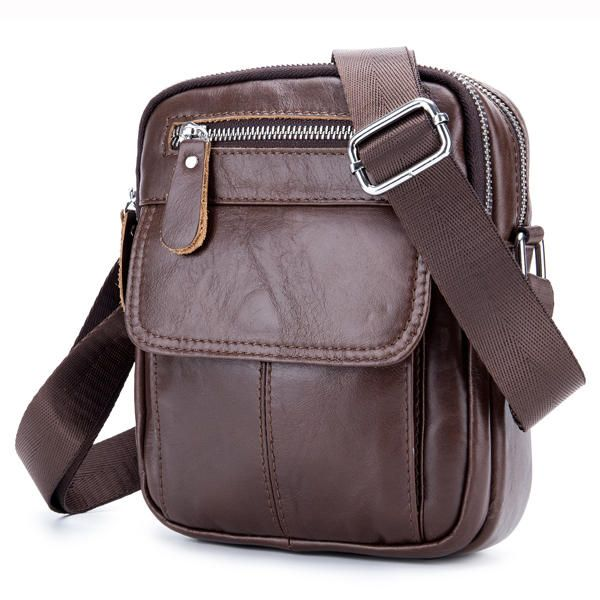 Mens shoulder bag Messenger bag casual mobile mens bag black