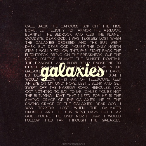 Galaxies- love Adam Young