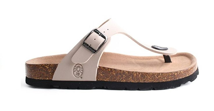 Coleman Women's Vashful Cork Footbed Slipper Flip-Flops(Beige) *** Read more  at the image link.