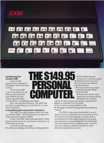 ZX81 Museum - Sinclair ZX81 Hardware, Software and Literature
