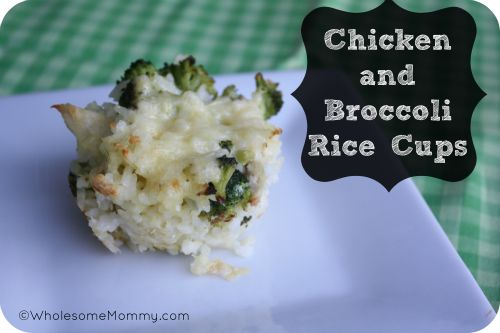 Chicken and Broccoli Rice Cups   Easy AND freezable meal even the kids will love!  From WholesomeMommy.com